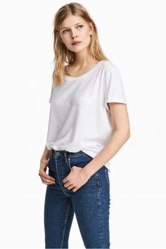 44c1f057e3a Slub jersey T-shirt - White - Ladies