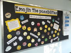 Emojin the Possibilities! Creative and fun bulletin board for classes of all age ages! Great for back to school.