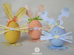 How fun are these decorated eggs at an Easter party! See more party ideas at CatchMyParty.com!