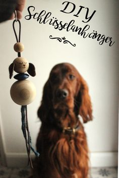 #DIY #Schlüsselanhänger aus Holzkugeln...#Hunde