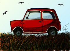 Austin Mini by ~CWIPenner on deviantART- getting this print on a shirt for one of the boys:) Artsy, Van, Deviantart, Crafty, Boys, Shirt, Painting, Ideas, Baby Boys