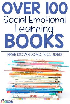 Social emotional learning books should be a requirement in every classroom.  Children love read alouds and when an important life skill can be incorporated with a good story-this is when the magic happens!  Grab your free list of books here!  #sel #charac