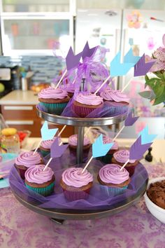 """""""C"""" is for Crafty: Brave Party - cupcakes"""