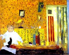 Edouard Vuillard — After the lunch, 1900, Edouard VuillardSize: 28x36...