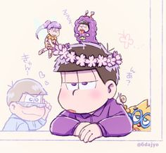 Ichimatsu wearing a flower crown