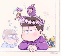 Ichimatsu wearing a flower crown