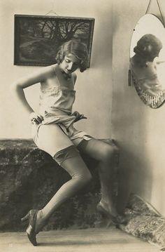 Ooh La La! 1920s Biederer risque postcard