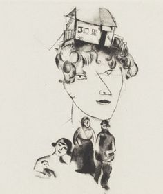 Self Portrait from Mein Leben (My Life) Marc Chagall (French, born Belarus. 1887-1985). MOMA, NYC