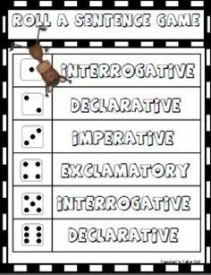 4 Kinds of Sentences-declarative-interrogative-exclamatory-imperative Fourth Grade Writing, Teaching 5th Grade, 6th Grade Ela, 5th Grade Reading, Kindergarten Writing, Teaching Writing, Second Grade, Grade 3, Teaching Tips