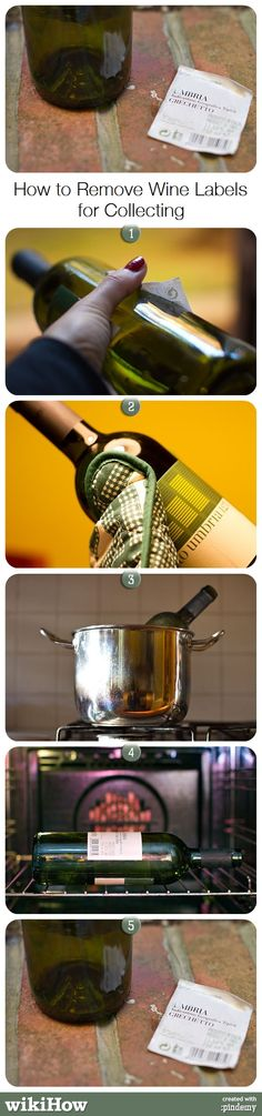 more ways to remove labels from wine bottles