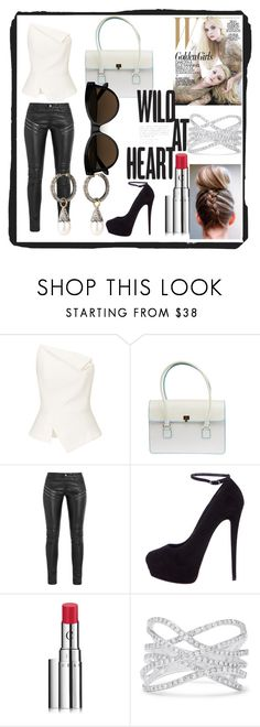 """""""Wild at heart"""" by shes-got-a-wolfs-soul ❤ liked on Polyvore featuring Roland Mouret, Lambertson Truex, Yves Saint Laurent, Giuseppe Zanotti, Chantecaille and Effy Jewelry"""