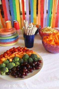 RAINBOW PARTY - love the veggie tray