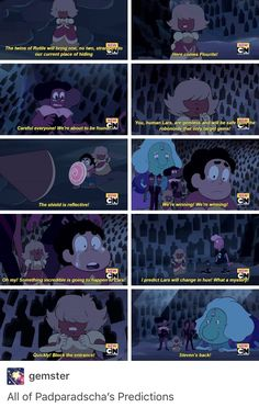 I just watched this on the day it was released, and I have to say, Padparadscha was my favorite off-color gem. I really hope they make it back to earth and become crystal gems. I'm also interested in seeing Fluorite's weapon.
