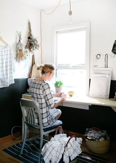 work space by the window for great light