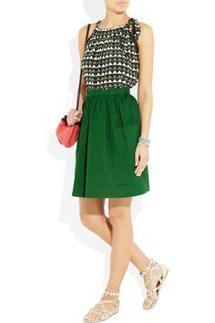 SEE BY CHLOÉ High-waisted cotton-canvas skirt