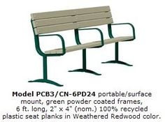 Park Benches. Accessible Outdoor Cast Iron Street, Sports & Garden Park Bench - - Cardinal Park Bench Model CB