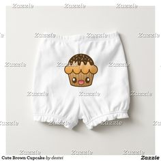 Cute Brown Cupcake Diaper Cover
