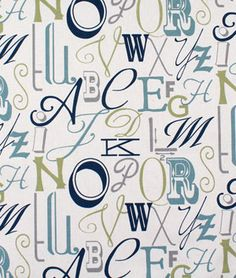 Premier Prints Alphabet Felix Natural Fabric - $10.98   onlinefabricstore.net