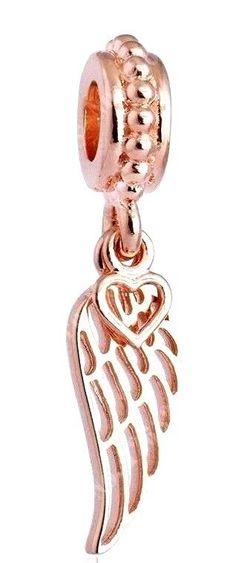 Autumn Pandora Rose Gold Love & Guidance Angel Wing Pendant Dangle Bead 781389 #pandora