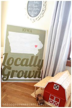 "Another amazing & custom hand painted sign - ""Locally Grown"" via www.oniongrovemer..."