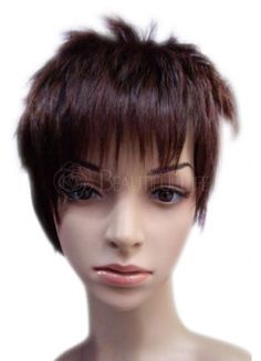 Brown short wig.Suitable for halloween.party.carnival and so on.High quality.competitive price.Full machine made cap construction.