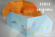 Prosty domek origami dla dzieci. DIY A simple origami house for children. Diy Projects To Try, Origami, Decorative Boxes, House, Home Decor, Homemade Home Decor, Home, Paper Folding, Haus