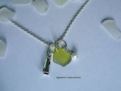 Beach glass necklace. Lighthouse necklace. by EgyptianInspirations, $23.99