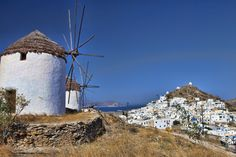 ios island greece images - Google Search Santorini, Wind Turbine, Mount Rushmore, Visit Greece, In This Moment, Island, Mountains, Nature, Ios