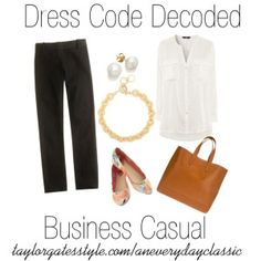 An Everyday Classic- Dress Code Decoded - Business Casual