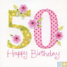 View item: Blue Eyed Sun X40 Vintage 50th Birthday Card