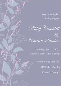 Flat Oversized Invitation - Floret