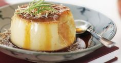 This Vietnamese version of creme caramel features the exotic flavours of coconut and lime.