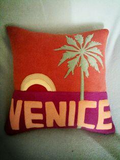 Venice sunset 20x20 w/zipper