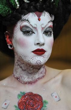 West Thames student Tamara Ramsey-Crockett's first-place beauty/fantasy student competition make-up, at the 2010 IMATS London. Photo by Nick Wall.
