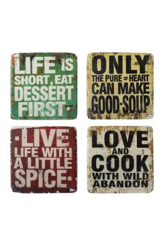cute signs!!  Great for the kitchen.