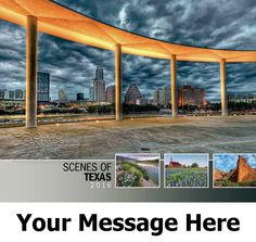 2016 Scenes of Texas - US Scenic - Promotional Calendar Cover. Imprinted with your Business, Organization or Event Name and Logo As Low As 65¢.