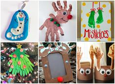 20+ Handprint and Footprint Christmas Crafts for Kids