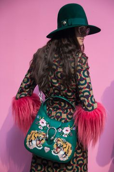 In case you haven't noticed, there's a revolution happening over at Gucci and the genius leading the rebellion is a man who strongly believes in emotion over rationality. Since he was appointed creative director nearly a year ago, Alessandro Michele… High Fashion, Fashion Show, Fashion Tips, Fashion Trends, Alessandro Michele Gucci, Crazy Patterns, Gucci Handbags, Coach Handbags, Coach Bags
