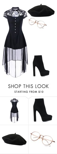 """""""Untitled #861"""" by tumblristicdaisies on Polyvore featuring Casadei and Goorin"""