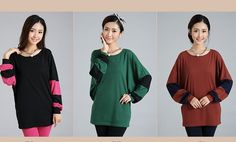 TC000387 Mixed colors T-shirt long sleeve tops for women