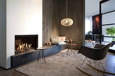 modernes Wohnzimmer mit Kamin – Fairo Eco Line 80 von Kalfire modern living room with fireplace – Fairo Eco Line 80 by Kalfire Modern Fireplace, Fireplace Wall, Living Room With Fireplace, Fireplace Design, Fireplace Heater, Fireplace Ideas, Living Room Modern, Living Room Interior, Home Living Room