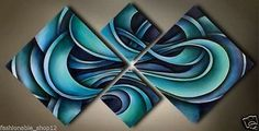 New ! abstract Huge wall Art oil Painting on Canvas( no frame ) in Art, Direct from the Artist, Paintings | eBay
