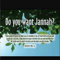 Do you want Jannah?
