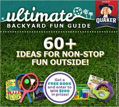Get outside with Parent and Child's 60 kid-friendly activity ideas, a backyard adventure guide, craft videos and more! Plus, you can enter for a chance to win prizes from Quaker that'll make the outside even more fun!