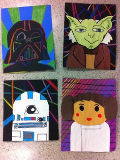 Pop Art Star Wars Characters -Drip, Drip, Splatter Splash, Art Education Blog