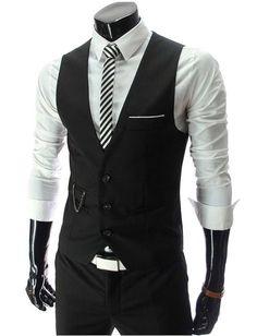 Men's Slim Vests Man Cotton Waistcoat Outerwear Mens Casual Vest