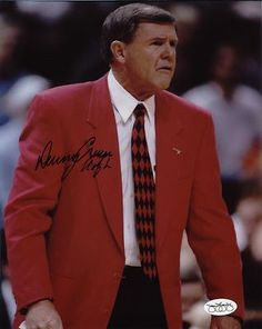 The great Louisville coach Denny Crum led his teams to six Final Fours and two National Titles in 1980 and 1986.  The name of the court in Louisville is named after this Hall of Fame coach.
