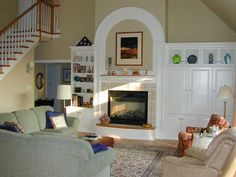 Family room in an EGStoltzfus home. #architecture