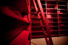 Lundia Original in red (dutch Lundia) - Bookshelf