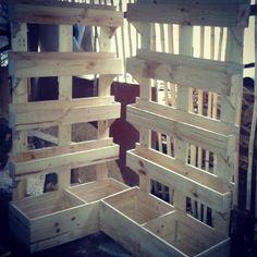 DIY# Pallet furniture# Vertical garden.